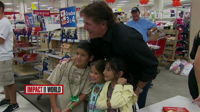 Mickelson helps kids succeed in school
