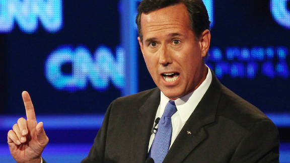 Presidential candidate Rick Santorum has asked Google to clean up the search results associated with his name.