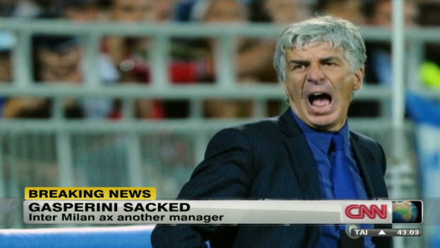 Inter Milan manager sacked