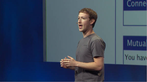 Mark has worn the shirt for numerous Facebook events and announcements, like this one.