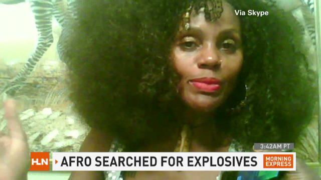 Afro searched for explosives