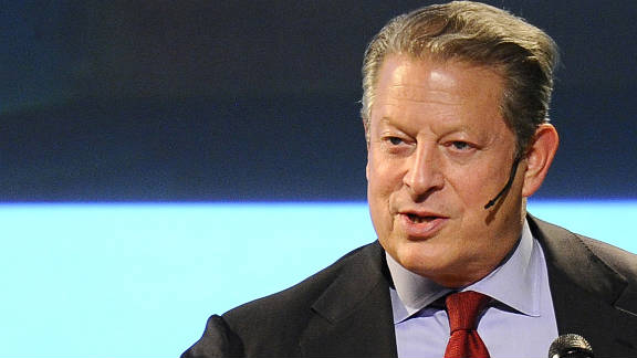 Al Gore speaks during an environmental summit in Guayaquil, Ecuador, in March.