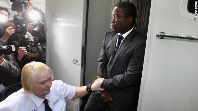 Kweku Adoboli, a trader for the Swiss investment bank UBS, arrives at a London court last year.