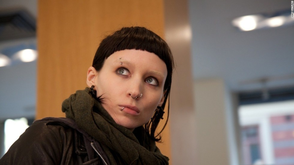 "Rooney Mara had to adopt a quirky look to play computer hacker Lisbeth Salander in the 2011 film ""The Girl With the Dragon Tattoo."""