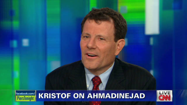 Nick Kristof: Ahmadinejad lacks charisma