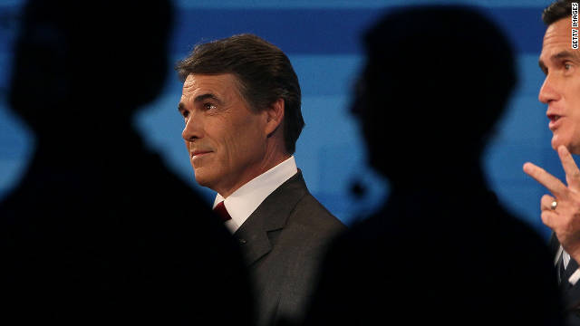 Texas Gov. Rick Perry didn't use time as effectively as ex-Massachusetts Gov. Mitt Romney did Thursday, a debate coach says.