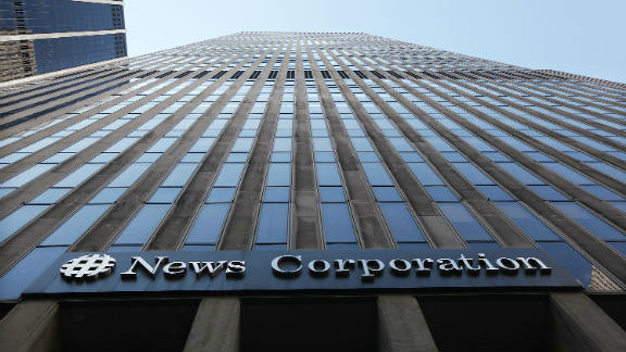 The headquarters of News Corporation in Manhattan, New York.
