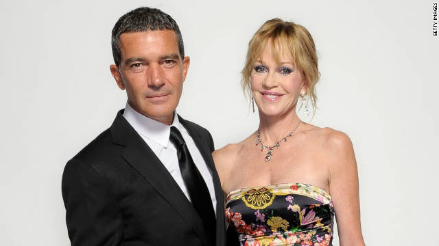 Antonio Banderas and wife Melanie Griffith attend the 2011 NCLR ALMA Awards