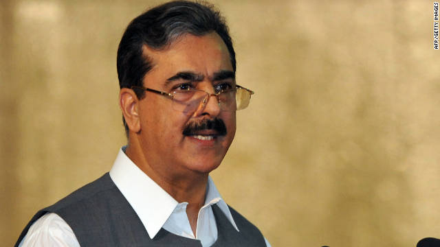 Prime Minister Yousuf Raza Gilani hinted that the military may be plotting against Pakistan's civilian government (file photo).