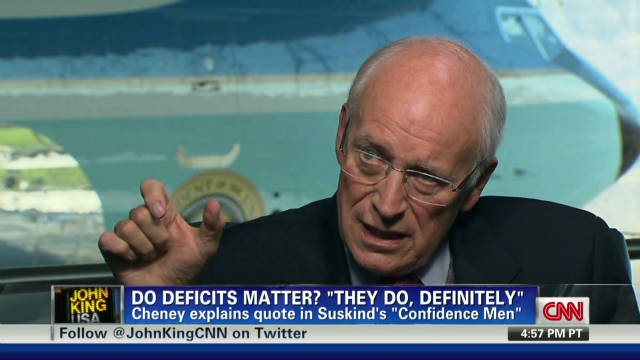 Cheney explains quote in Suskind book
