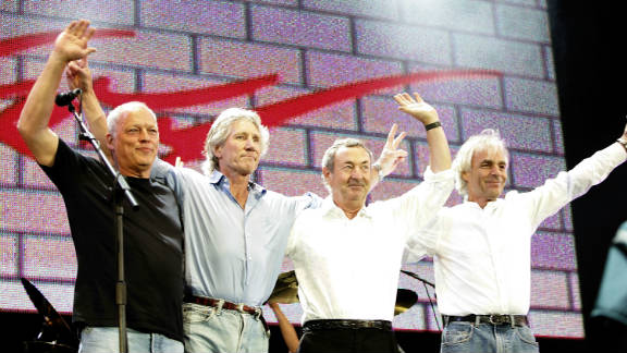 Pink Floyd -- from left, David Gilmour, Roger Waters, Nick Mason, Richard Wright -- at 2005