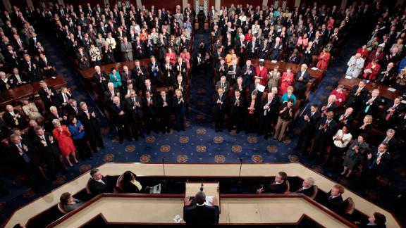 President Barack Obama addresses a joint session of Congress on September 8.