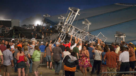 Seven people were killed and more than 40 were injured when a stage collapsed at the Indiana State Fair on August 13.