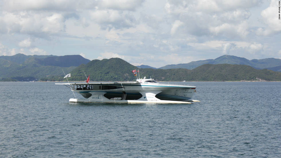 The solar-powered yacht, Planet Solar, is currently on a world tour promoting solar energy.