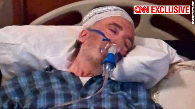 CNN found Abdelbesset al-Megrahi in the care of his family in a Tripoli villa, surviving on oxygen and an intravenous drip.