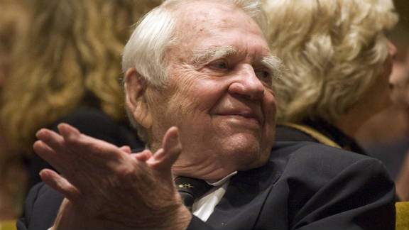TV journalist Andy Rooney, a commentator on CBS