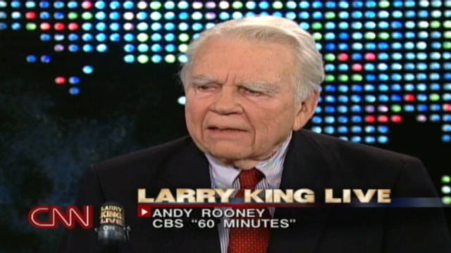 "Andy Rooney's commentaries have been featured on ""60 Minutes"" since 1978."