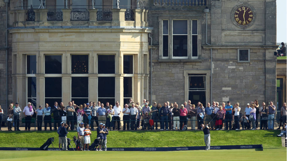One of the most welcome arrivals this week has been the sun as players and spectators bask in unseasonably warm conditions at St. Andrews.