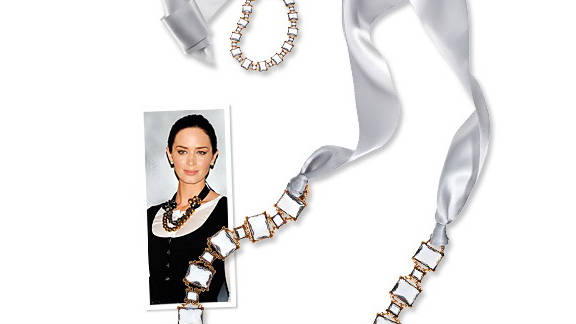 Ribbon necklace, inspired by Emily Blunt.