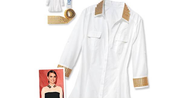 Studded shirt, inspired by Natalie Portman.