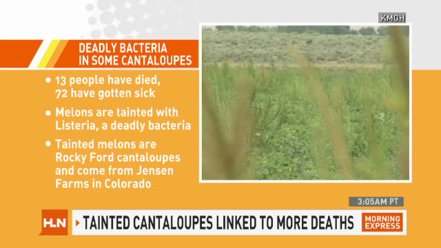 13 dead after eating cantaloupe