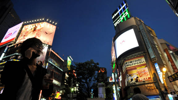 Business sentiment in Japan contracted for the fourth straight quarter.