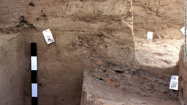 Ancient trash dumps, or middens, such as this one at Harappa in Pakistan, are rich hunting grounds for archaeologists.