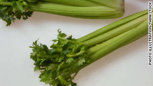 The veggie trays affected include celery.