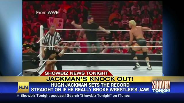 Hugh Jackman's WWE knock out