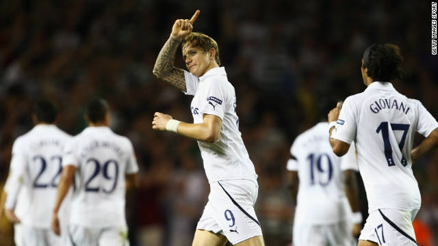 Spurs striker Roman Pavyluchenko equalized for the English Premier League side.