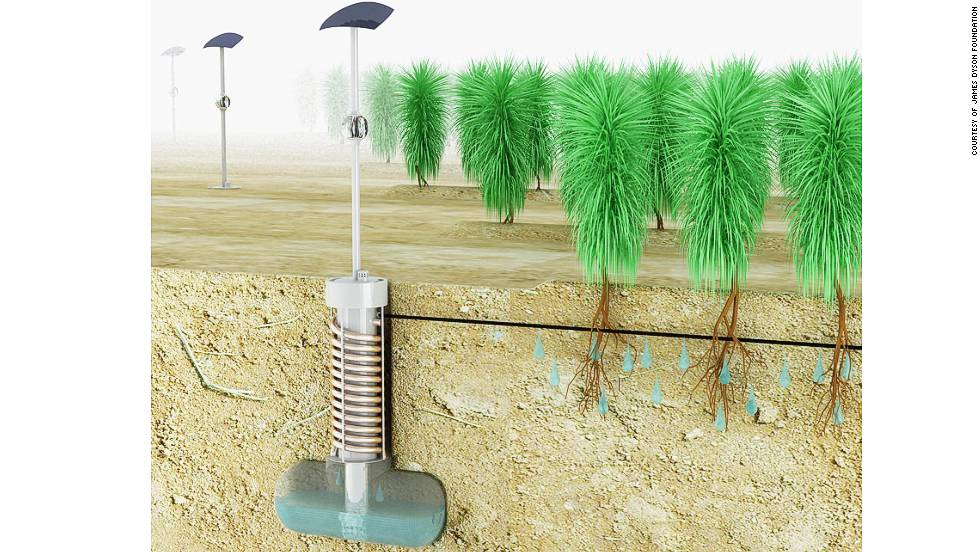 "AUSTRALIA: ""Airdrop Irrigation"" havests moisture in the air by using a system that produces condensation to provide water for plants in arid/drought-hit locations"