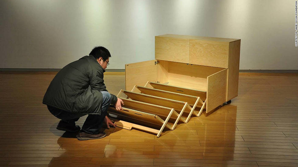 "JAPAN: ""Mobile Furniture"" has created retractable furnishings for people living in cramped accomodation"