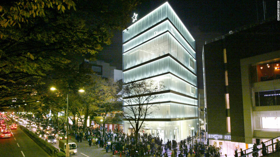 The bright lights of Christian Dior's flagship Tokyo store.