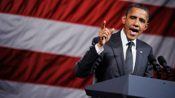 President Obama at a Democratic fundraising event  in Hollywood on September 26