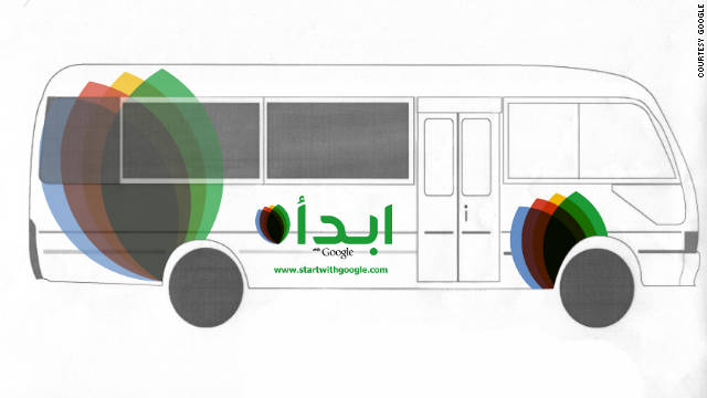 Google on Monday is launching a bus tour in Egypt to recruit tech entrepreneurs.
