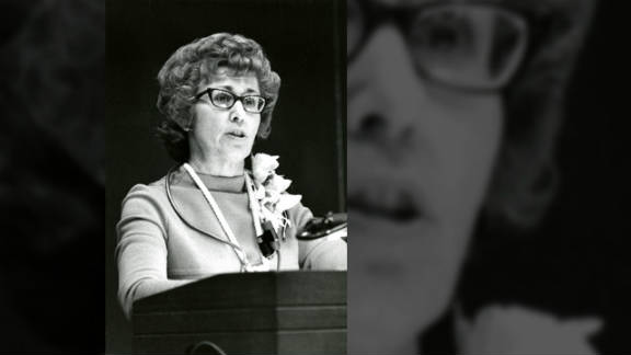 Loretta Ford, in 1972, giving a speech at the University of Rochester's Whipple Auditorium