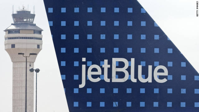 Seven people were hurt aboard a JetBlue Airways flight from Puerto Rico to Boston on Sunday, authorities said.