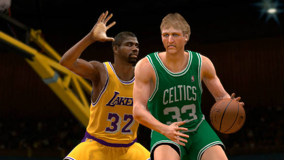 """You can make NBA legends Magic Johnson and Larry Bird face off in """"""""NBA 2K11."""""""