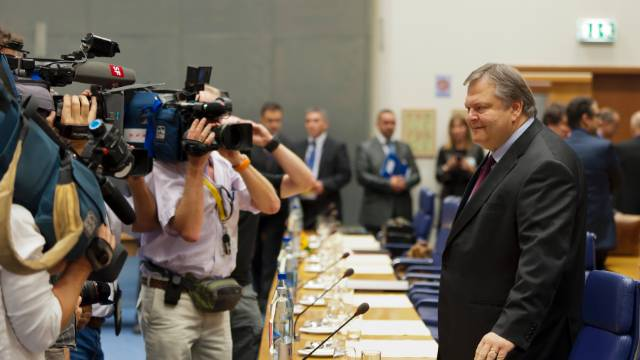 Greek Finance Minister Evangelos Venizelos arrives for a Eurogroup council meeting in October 2011 after announcing his country would miss its deficit targets. Greece joined the euro currency in 2001 on the basis of faulty deficit figures.