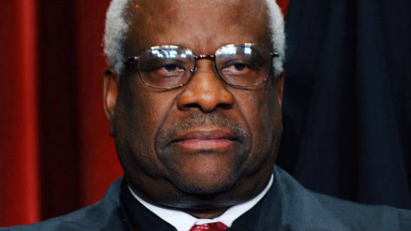 Justice Clarence Thomas, 63, is marking his two decades on the Supreme Court.
