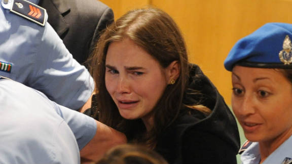 Amanda Knox on Monday was cleared in the murder of her roommate in Italy, nearly four years after she was arrested.