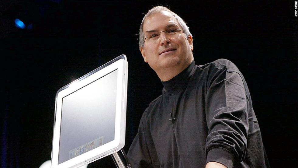 The late Steve Jobs, former CEO of Apple, introduces the all-new flat-panel iMac computer at the Macworld Expo in January 2002.  In this gallery, we take a look at some of the many faces of the iconic machine.