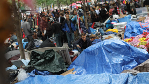 Protesters have been camping out at New York