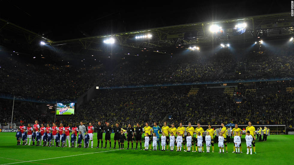 Signal Iduna Park is the home ground of German champions Borussia Dortmund. It is the country's largest stadium with a capacity of 80,000 for domestic matches, while Bayern Munich attract crowds of 70,000 to the Allianz Arena.