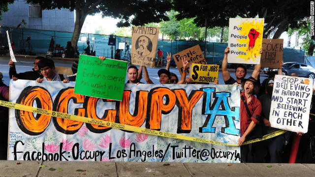 "The ""Occupy Wall Street"" movement has spread from New York City to Chicago to Los Angeles, pictured here, and beyond."