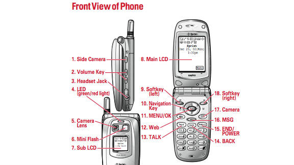 """It's almost unimaginable that people once had cell phones without built-in cameras. One of the first, the PCS phone by Sanyo 5300, sold in Sprint stores for $400 in 2002. """"When Sanyo introduced the color-screen SCP-5000 a couple of years ago, consumers got a glimpse of what cell phones might be able to do in the future,"""" a CNET review said at the time. """"Now, two iterations later, the SCP-5300, with its 65,000-color display and flash-equipped built-in camera, is making that vision a reality."""""""