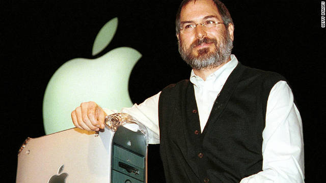 Apple co-founder Steve Jobs introduces the new Power Mac G4 computer in San Francisco in 1999.