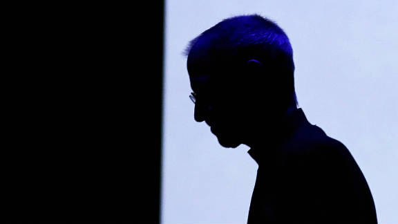 Apple CEO Steve Jobs at the unveiling of the iPad 2 in March 2011.