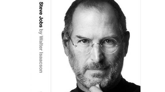 """The cover of """"Steve Jobs,"""" by Walter Isaacson, to be published later this month by Simon & Schuster."""