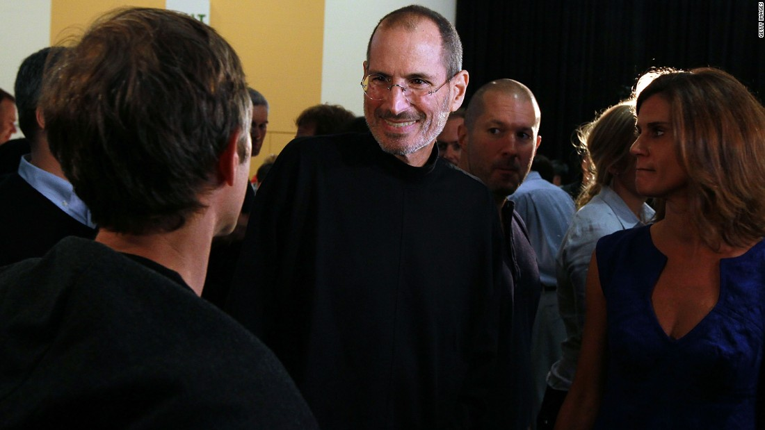 "<a href=""http://www.cnn.com/specials/tech/steve-jobs-the-man-in-the-machine"" target=""_blank"">Jobs</a> greets an attendee after he delivers the keynote address at the 2010 Apple Worldwide Developers conference in San Francisco."